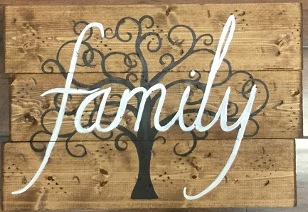 FAMILY ON WOOD