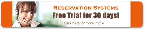 Try our online reservation software system free for 30 days!