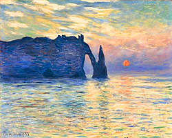 Claude Monet, cliff