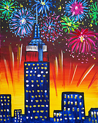 empire state fireworks