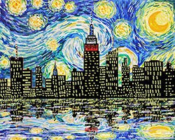 Starry Night Over Manhattan
