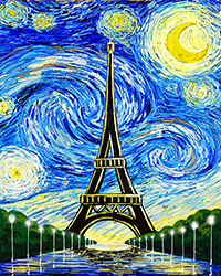 Starry Night Over Paris.
