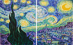starry night duel painting