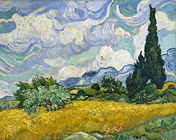 Vincent Van Gogh, Wheat Field with Cypresses